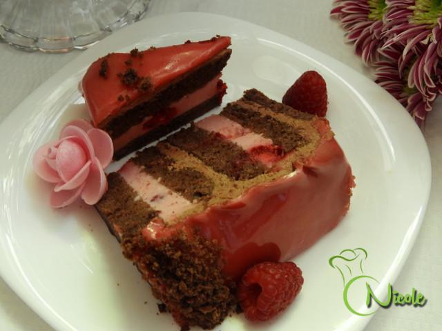 Tort De Ciocolata Cu Zmeura Si Glazura Lucioasa Retete Originale